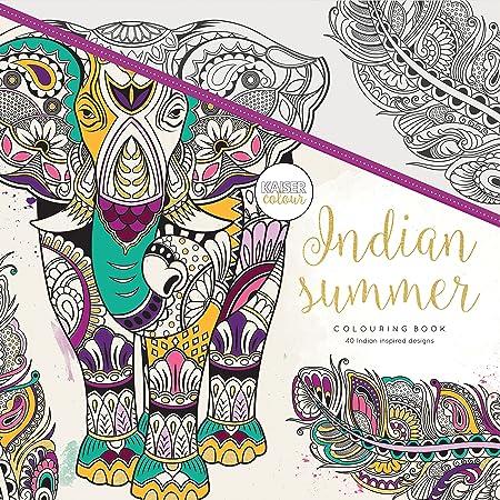 Kaisercraft Kaisercolour Perfect Bound Coloring Book Indian summer ...