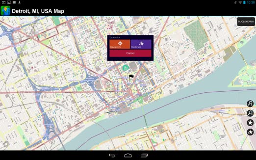 Detroit In Usa Map.Amazon Com Detroit Mi Usa Offline Map Appstore For Android