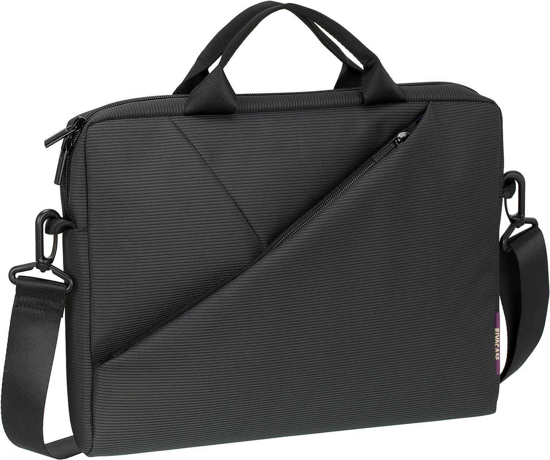 Rivacase 8720 13.3 Inch Laptop Bag, Ultra Slim with Adjustable Shoulder Strap, Dark Grey