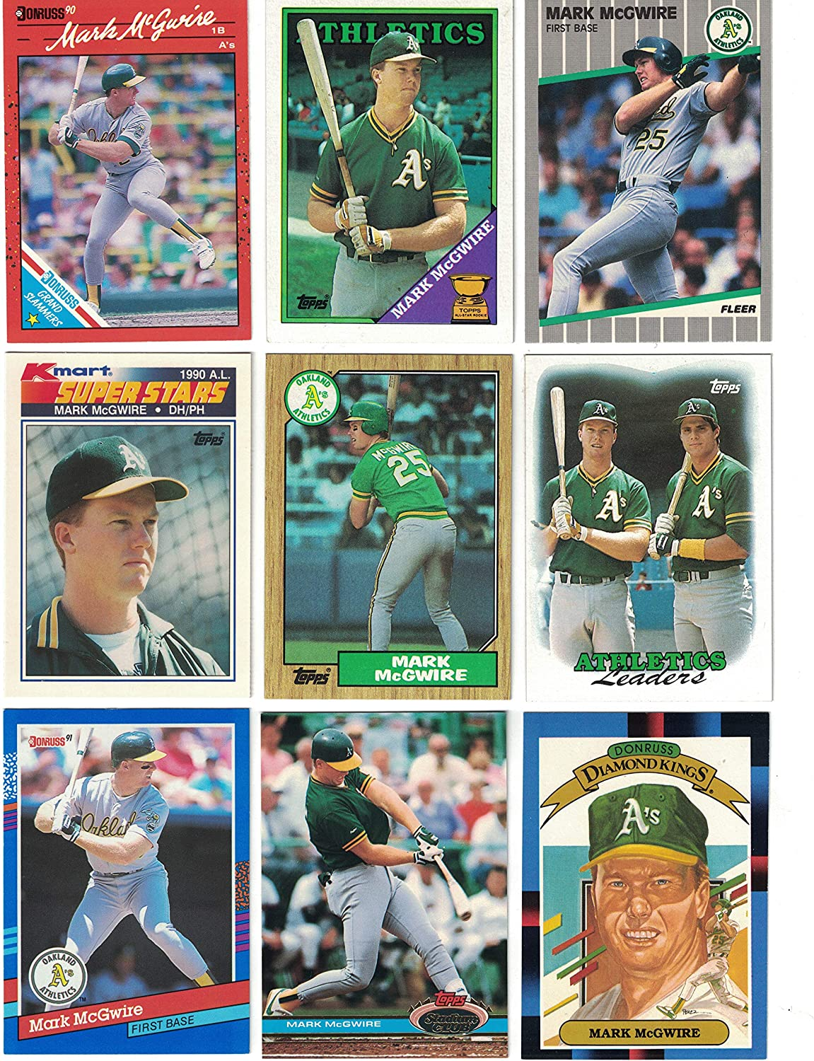 Mark Mcgwire 50 Different Baseball Cards Featuring Mark Mcgwire