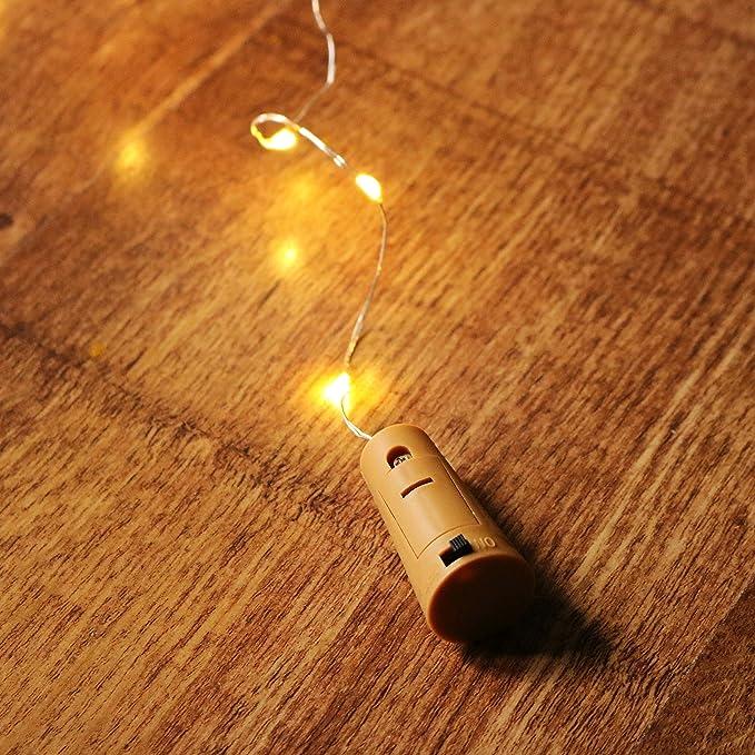 Botella LED Cork Light 10 Cadena LED blanca cálida Iluminación para el hogar, decoración de interiores Juego de 1 by PK Green: Amazon.es: Hogar