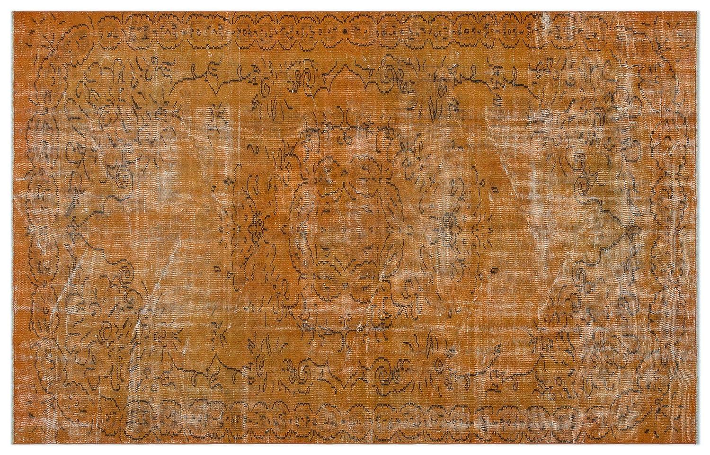 Bespoky ビンテージ 手織 ラグ オレンジ ミディアムサイズ 167 X 272 Cm   B07HKYRM1W