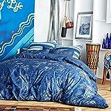 Hang Ten Pismo Beach Reversible Cotton Duvet Cover Set, Navy, Twin