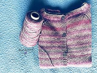 cardigan donna lana gradient grigio rosa