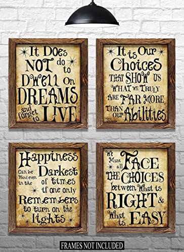 Amazon Harry Potter Quotes Sayings Set Of 4040x40 Prints Stunning Harry Potter Quotes