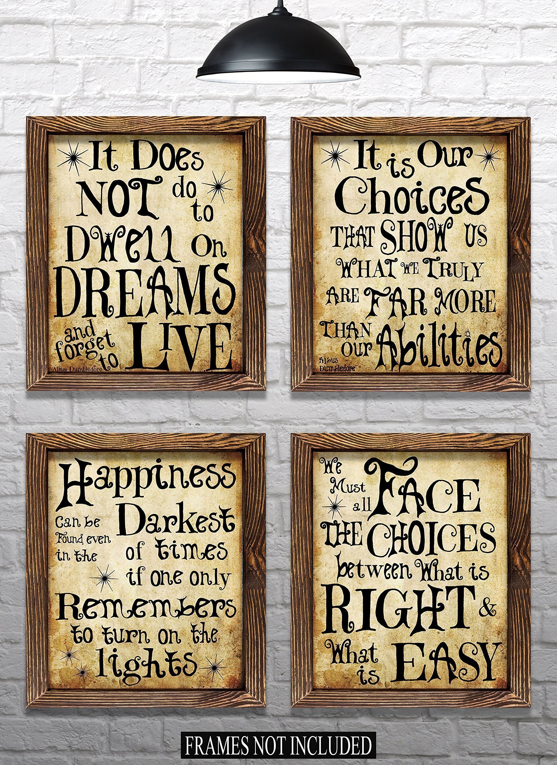 Harry Potter Quotes & Sayings - Set of 4-8''x10'' Prints - Great Harry Potter Gifts (set #1) by Everything Rustique
