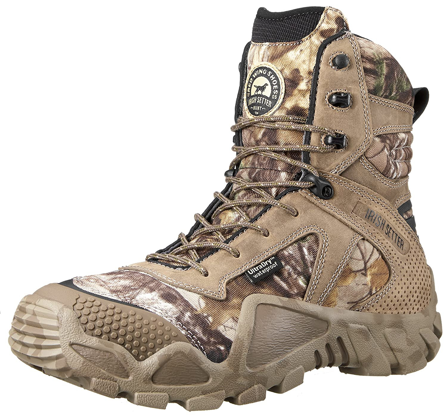 Realtree Xtra Camouflage 10 D(M) US Irish Setter Men's 2870 Vaprtrek Waterproof 8 Inch Boot
