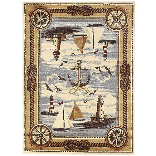 Nautical And Coastal Rugs: Amazon.com