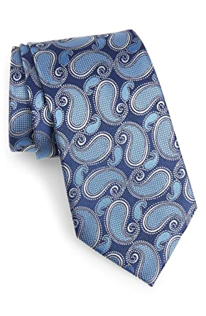 1db3b1741b316 Image Unavailable. Image not available for. Color: New Men's Ermenegildo  Zegna Paisley Navy Italian Silk Tie