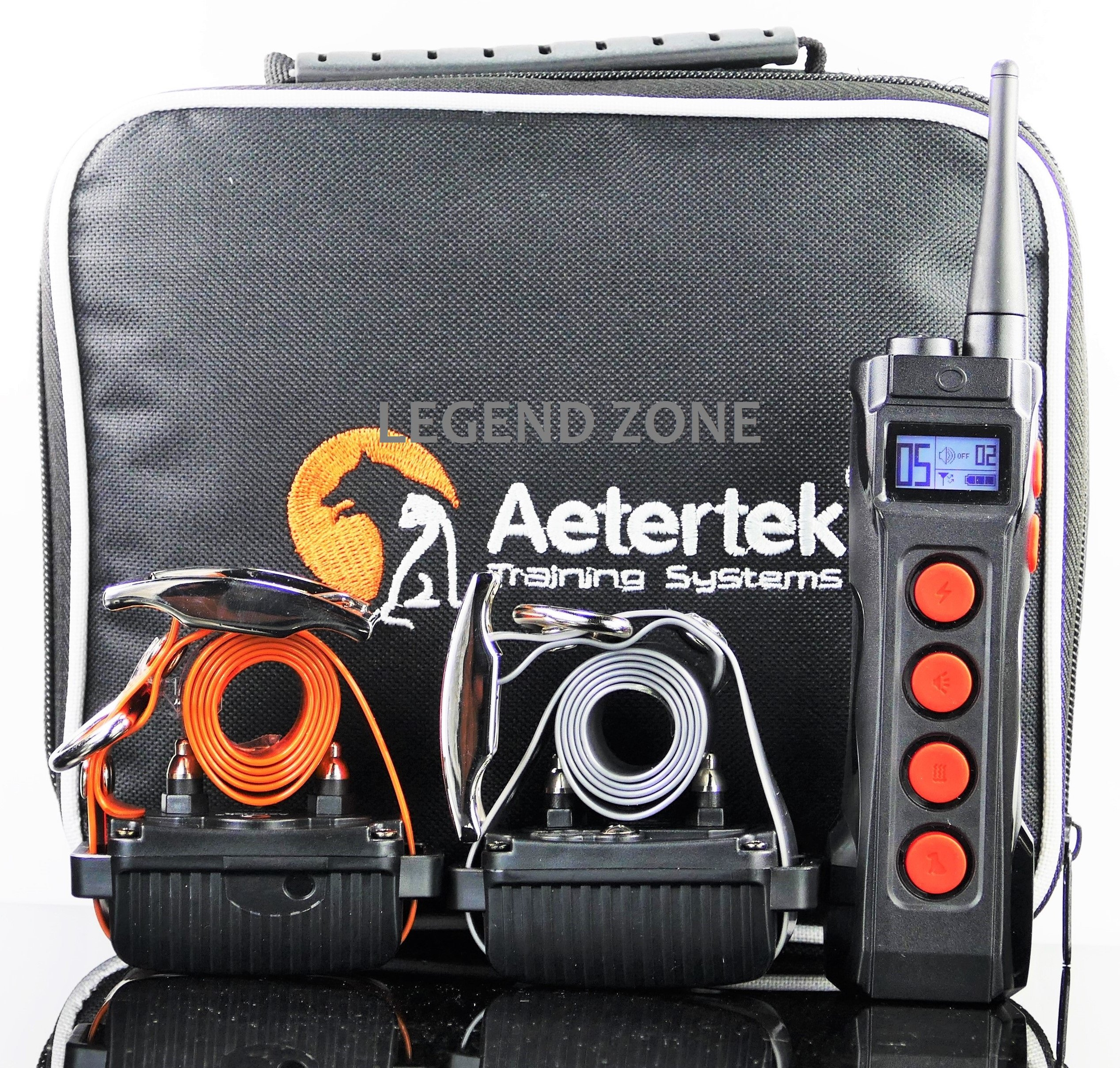 Aetertek At-919c 2-Dog 1100 Yard Ultra Range Remote Training Shock Collar Wit