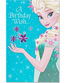 American Greetings Frozen Birthday Card With Glitter
