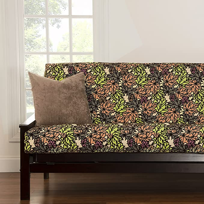 SIScovers Pressed Leaf Copper Full-Size Futon Cover