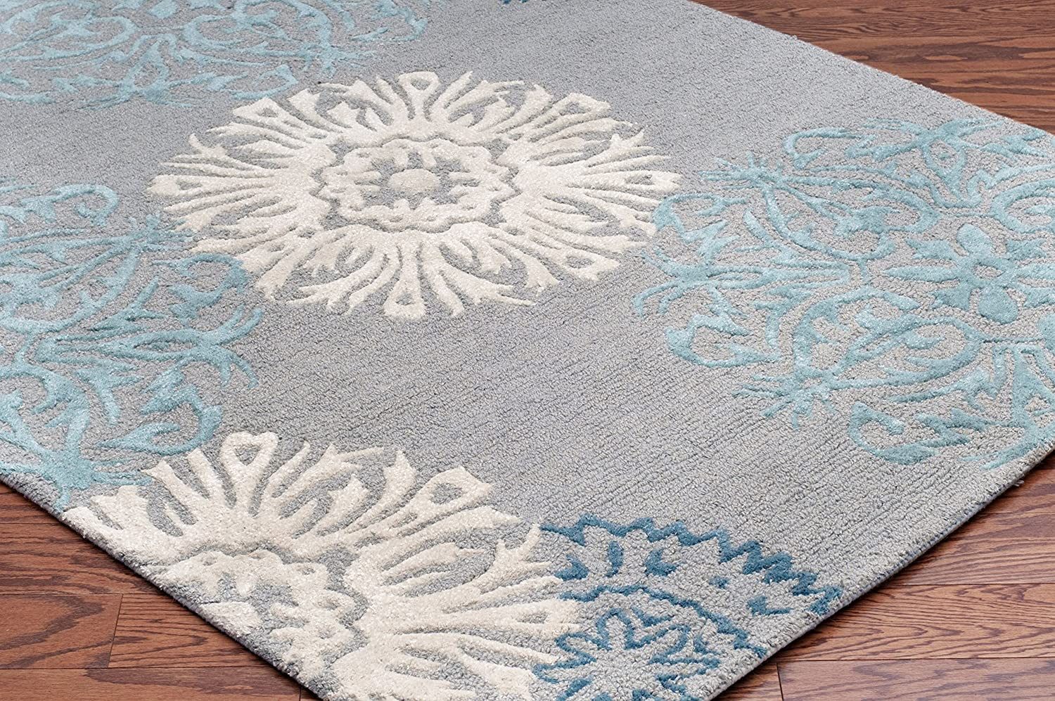 Amazon.com: Rizzy Home DI2241 Dimensions Hand Tufted Area Rug, 2 Feet By  3 Feet, Transitional, Light Gray: Kitchen U0026 Dining