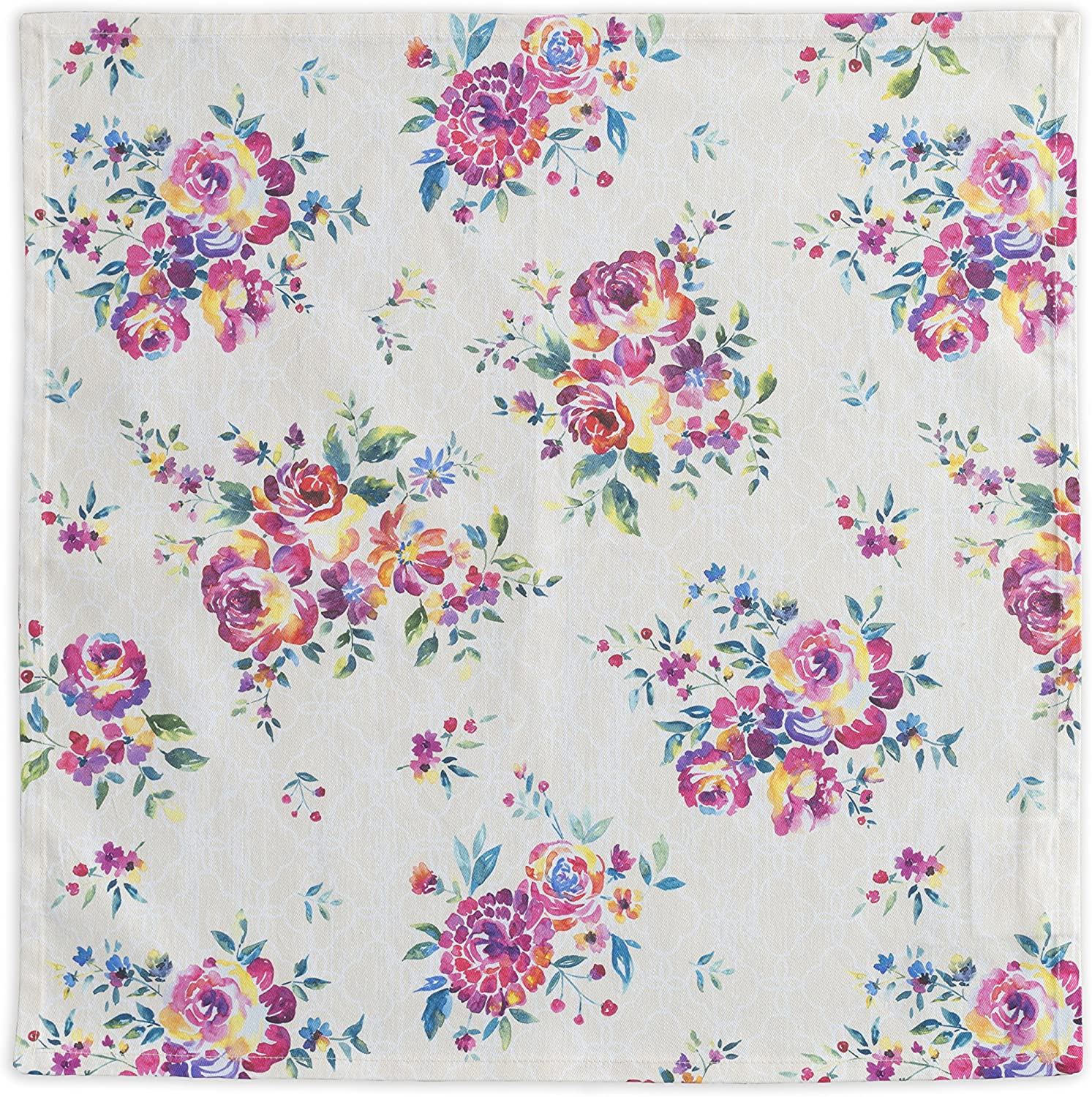 Maison d' Hermine Rose Garden 100% Cotton Soft and Comfortable Set of 4 Napkins Perfect for Family Dinners   Weddings   Cocktail   Kitchen   Spring/Summer (20 Inch by 20 Inch).