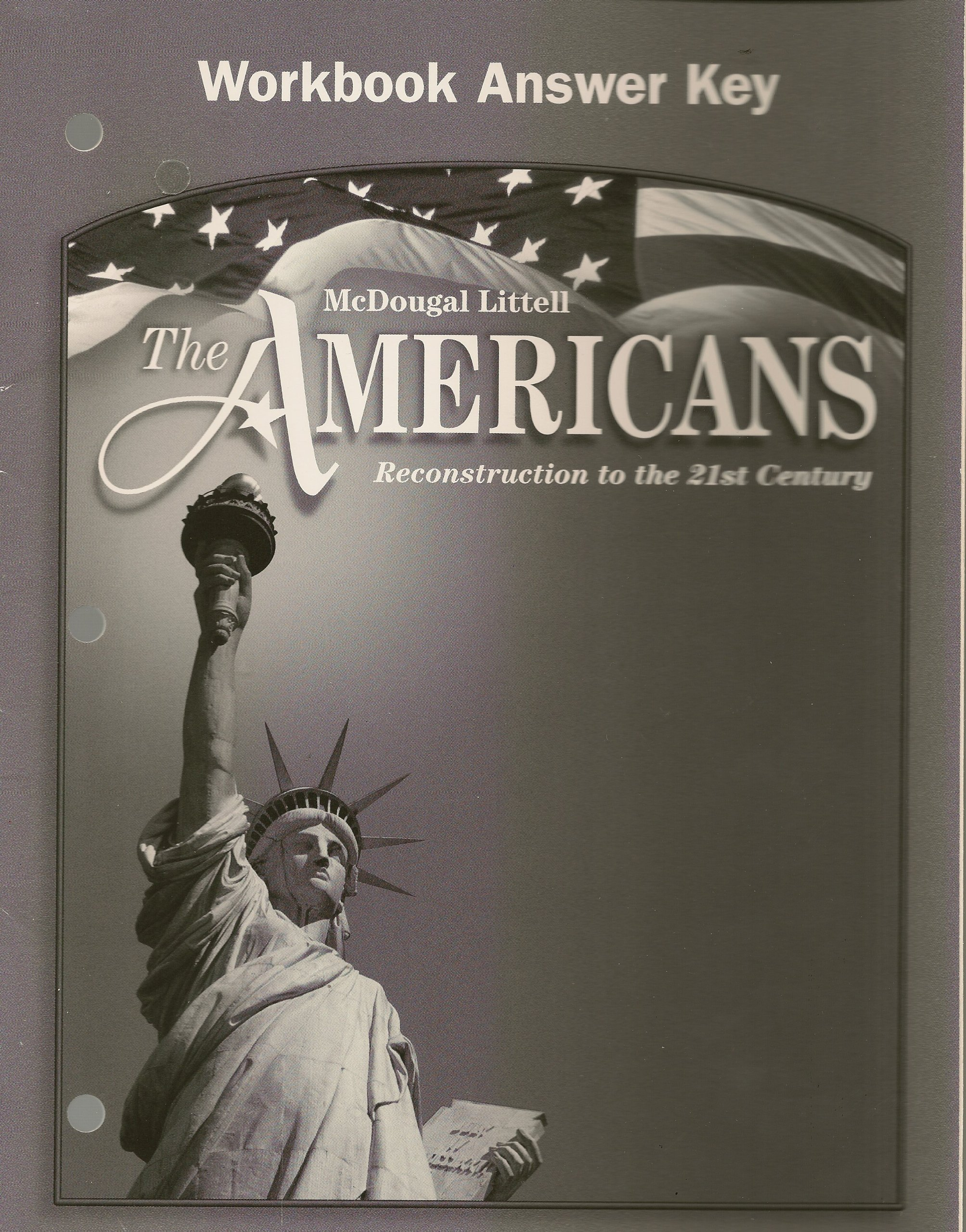 amazon com the americans workbook answer key grades 9 12 rh amazon com McDougal's Nashville McDougal Gym