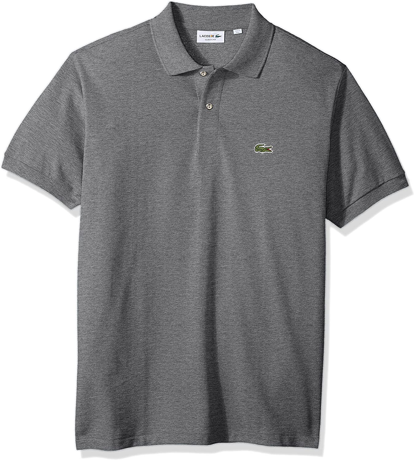 Lacoste Mens Classic Short Sleeve Chine Pique Polo Shirt
