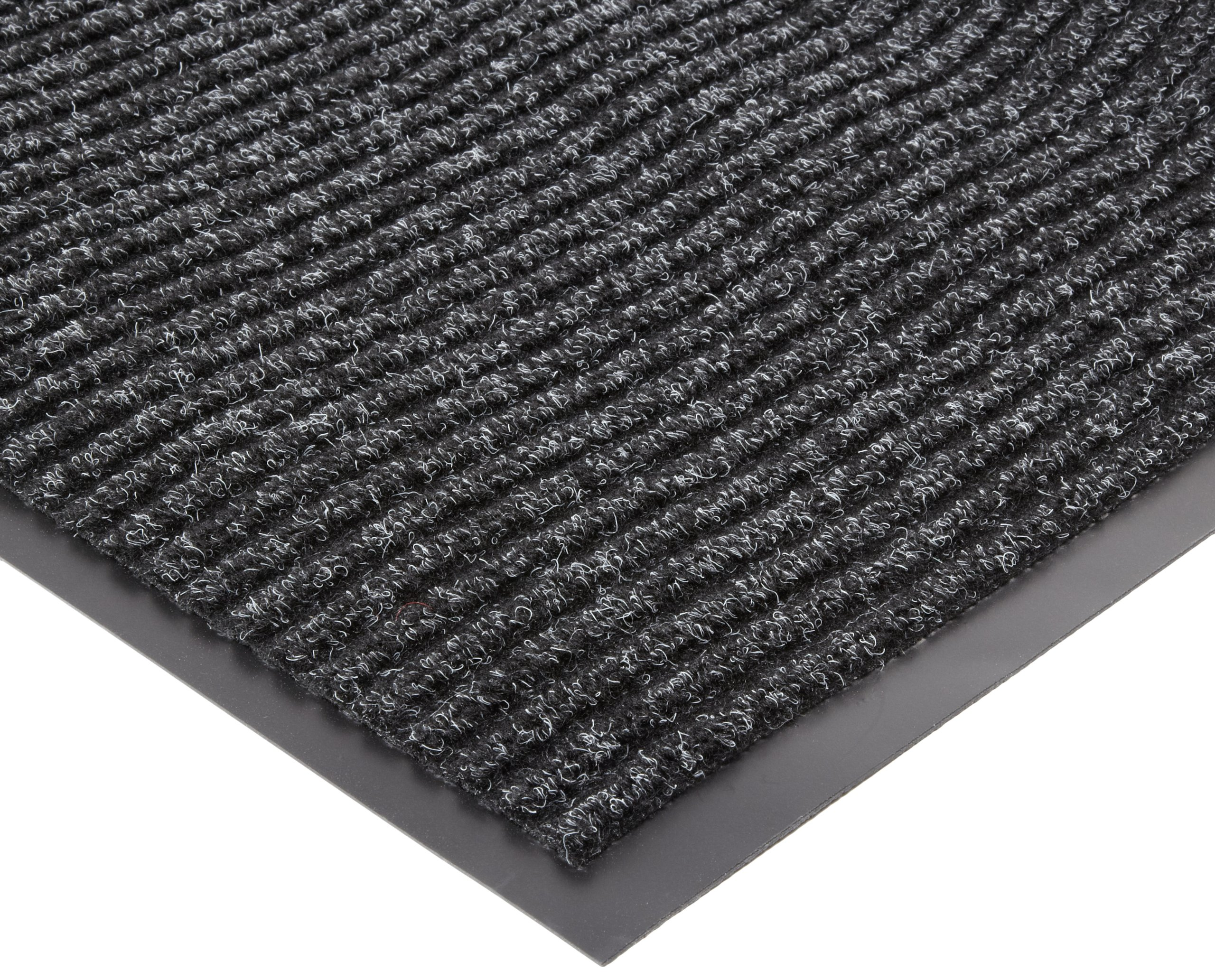 NoTrax 117 Heritage Rib Entrance Mat, for Lobbies and Indoor Entranceways, 3' Width x 6' Length x 3/8'' Thickness, Charcoal