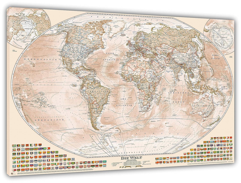 Physikalische Karte/von Neuseeland /Papier laminiert/ /A1/Gr/ö/ße 59,4/x 84,1/cm