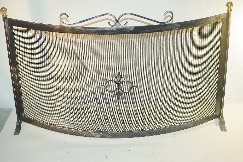 Funkenschutz für Kamin Schmiedeeisen Maße  40 x 80 cm