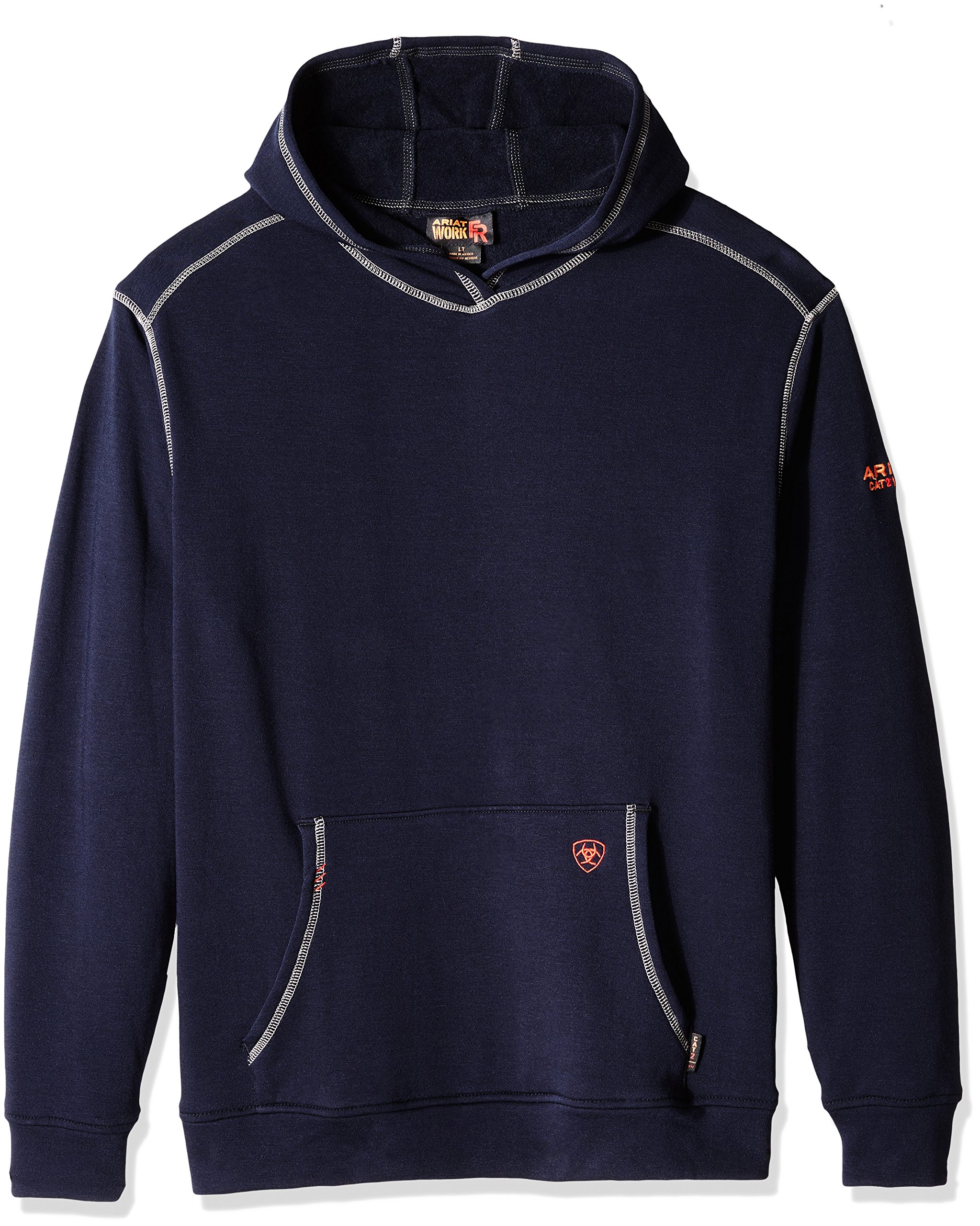 Ariat Men's Big and Tall Flame Resistant Polartec HoodieShirt, Coffee Bean Multi, Large