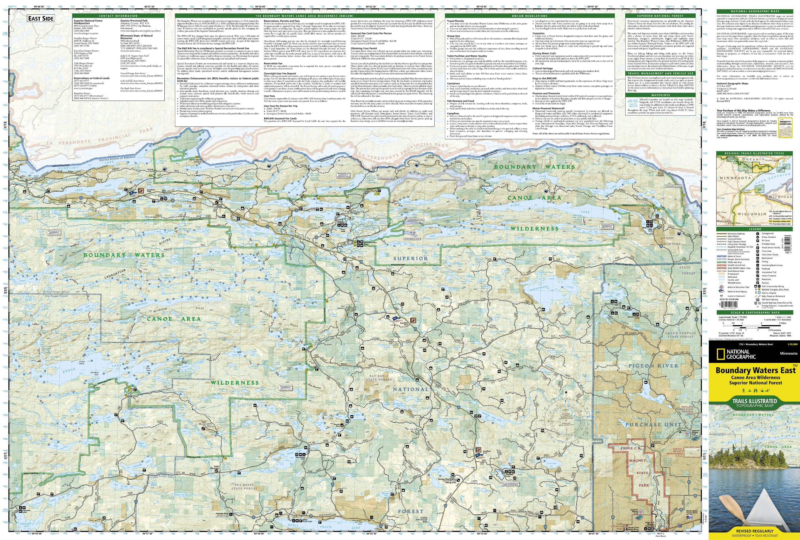 Boundary Waters East [Canoe Area Wilderness, Superior National ...