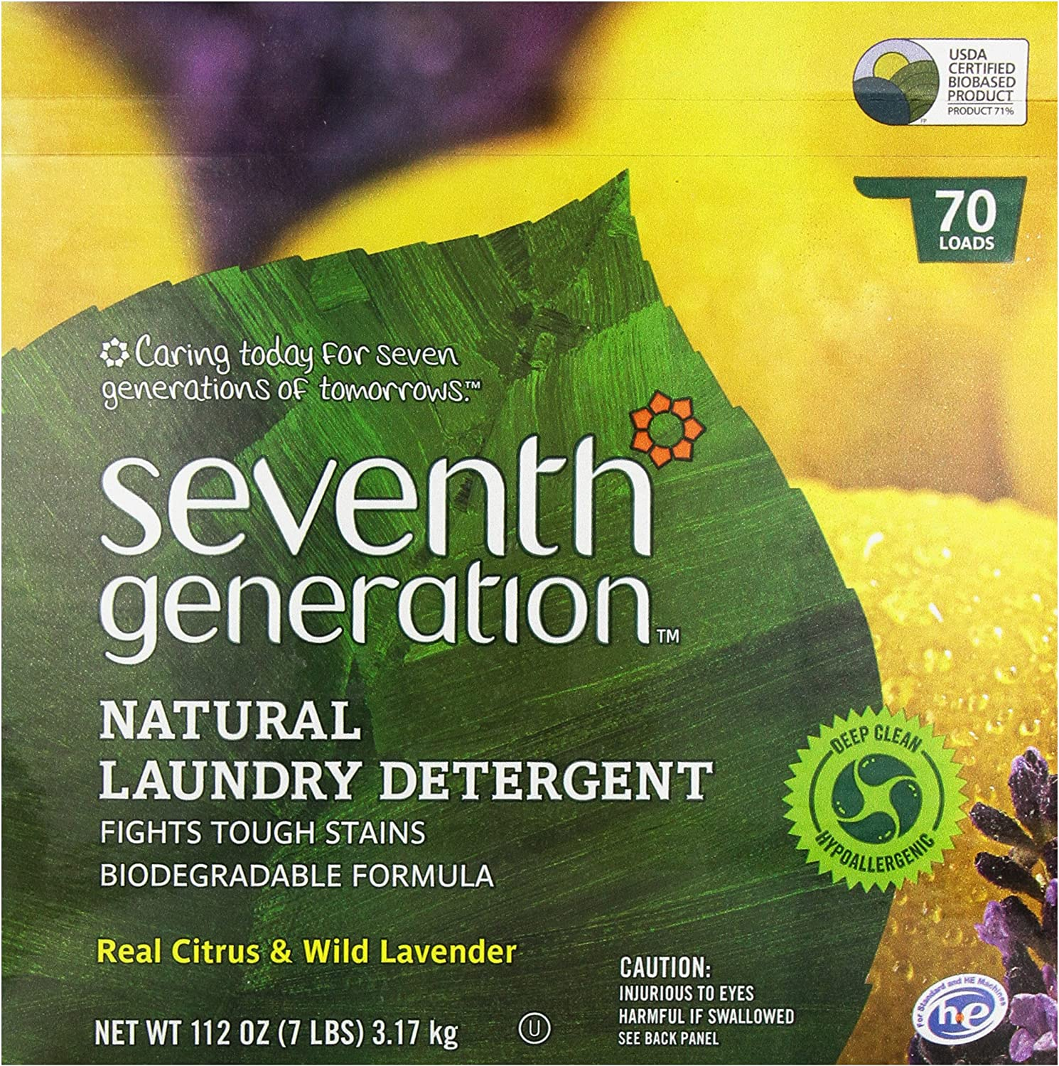 Seventh Generation Powder Laundry Concentrated, Real Citrus and ...