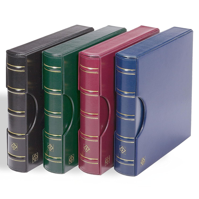 Leuchtturm 302402 Ringbinder Excellent zum Briefmarken sammeln, sammeln, sammeln, im Classic Design inkl.Schutzkassette, rot e557ad