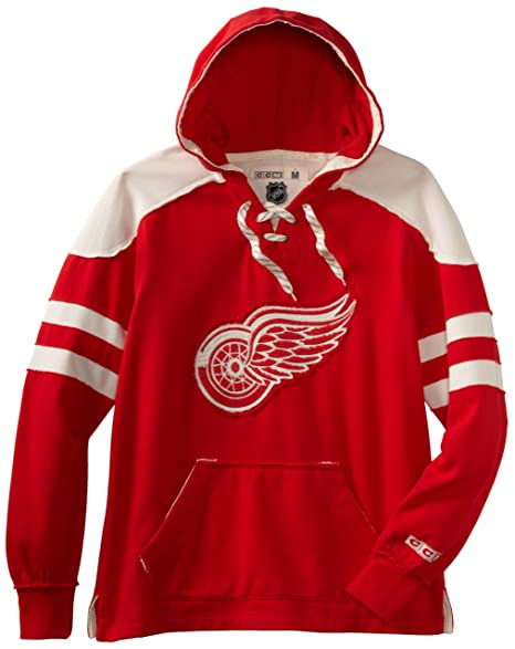 quality design 9570e b17fd Amazon.com : NHL Detroit Red Wings CCM Pullover Hoodie ...