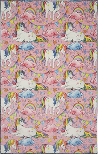 Mohawk Home Prismatic Unicorn Wish Area rug, 5 x8 , Pink