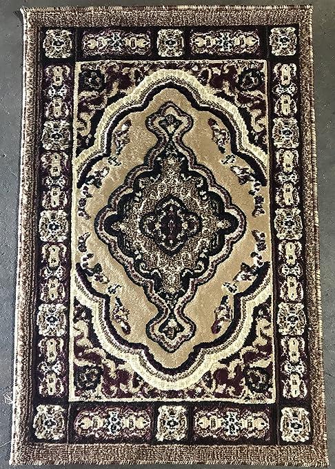 emirates Traditional Persian Door Mat Area Rug Beige Berber Design 520 (2 Feet X 3  sc 1 st  Amazon.com & Amazon.com: emirates Traditional Persian Door Mat Area Rug Beige ...