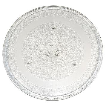HQRP - 11 - 1/4 pulgadas plato giratorio de cristal bandeja para ...