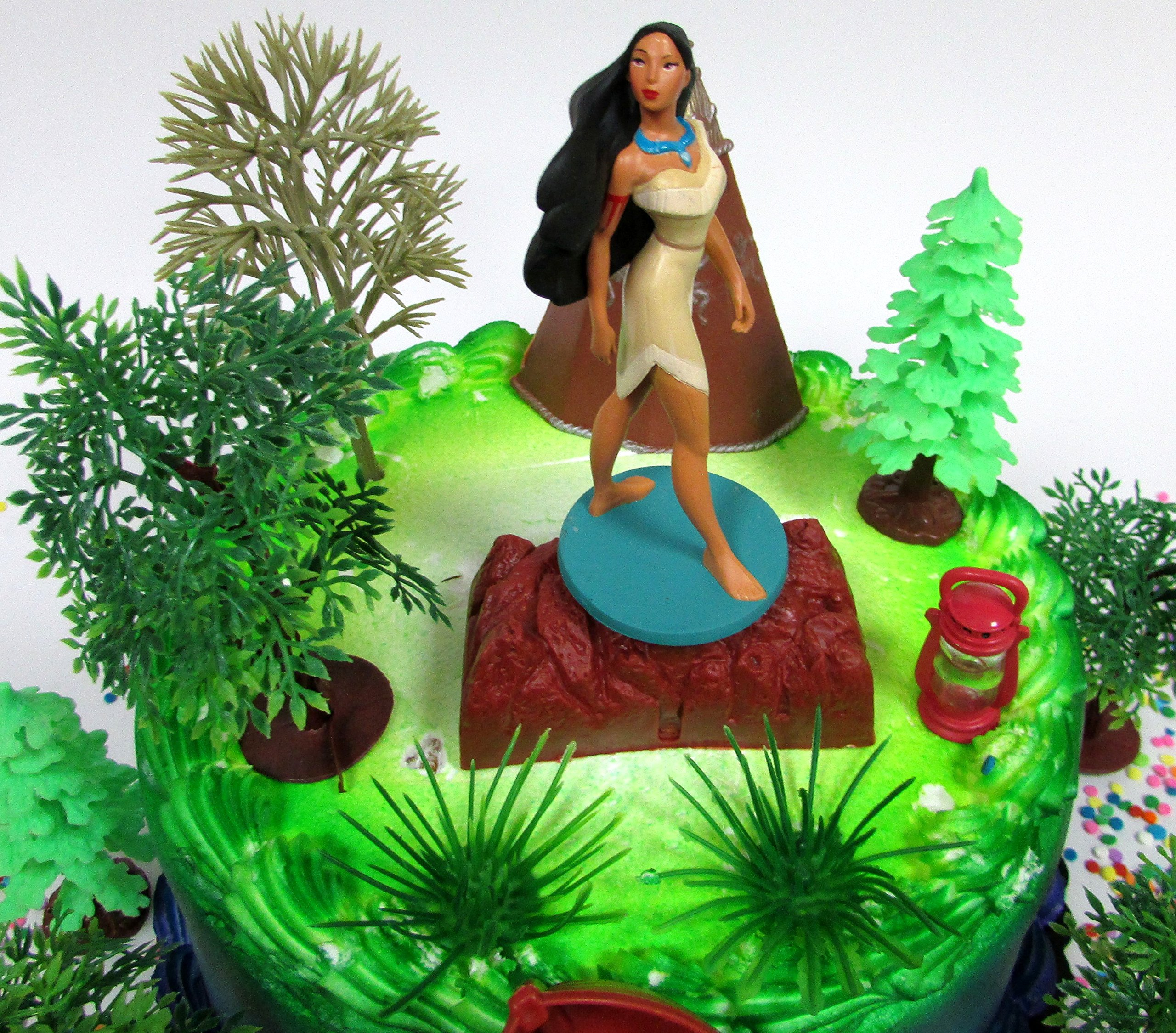 Pocahontas Themed PRINCESS POCAHONTAS Birthday Cake Topper Set Featuring Pocahontas Figure and Decorative Accessories by Cake Toppers (Image #2)