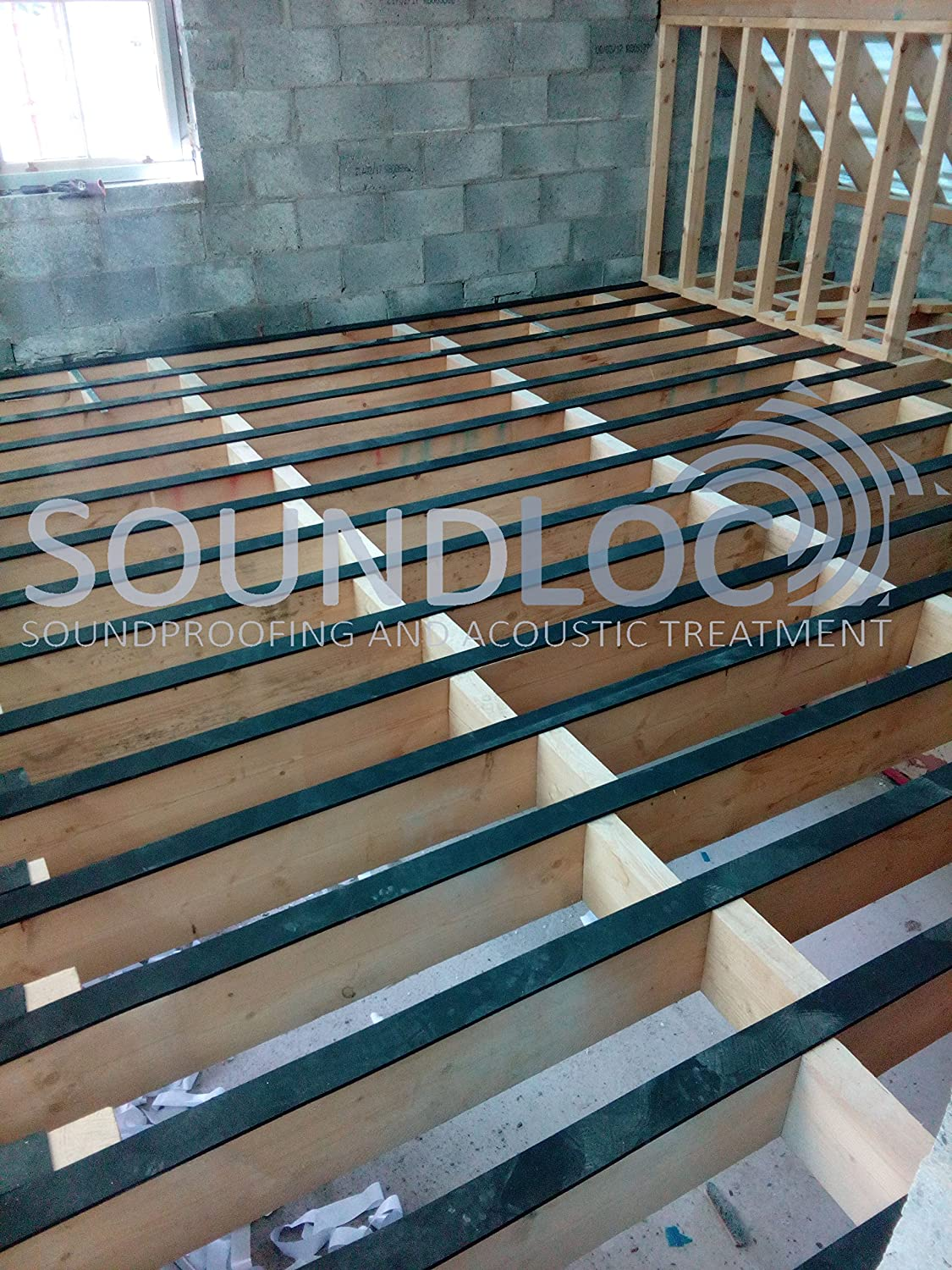 Soundloc Sound Proofing Resilient Tape Mm Width X Mm Thick X M - Soundproof floor boards