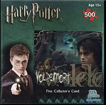 Visual Echo 3D Effect Harry Potter Voldemort Fire 500pc Lenticular Puzzle 0178 Hobbico