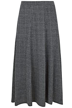 92c847ca131 Yours Clothing Women s Plus Size Black   Dog Tooth Check Maxi Skirt Size 16  Grey