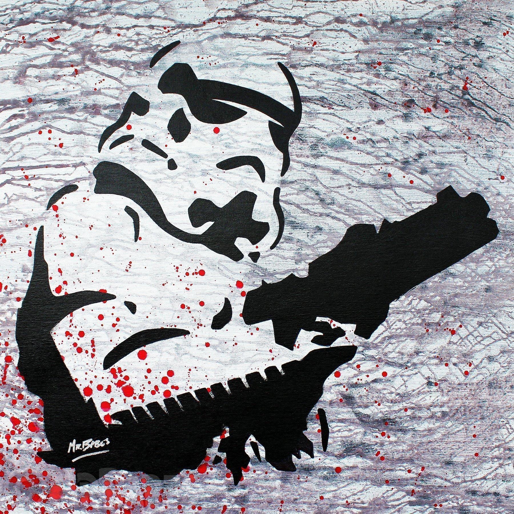 MR.BABES - ''Star Wars: Stormtrooper'' - Original Pop Art Painting - Movie Portrait
