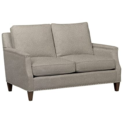 Marvelous Stone Beam Marin Studded Loveseat 60W Grey Machost Co Dining Chair Design Ideas Machostcouk