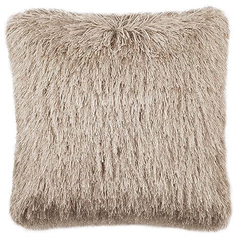 Amazon.com: Safavieh Shag Modish Metallic Throw Pillow, 12 ...