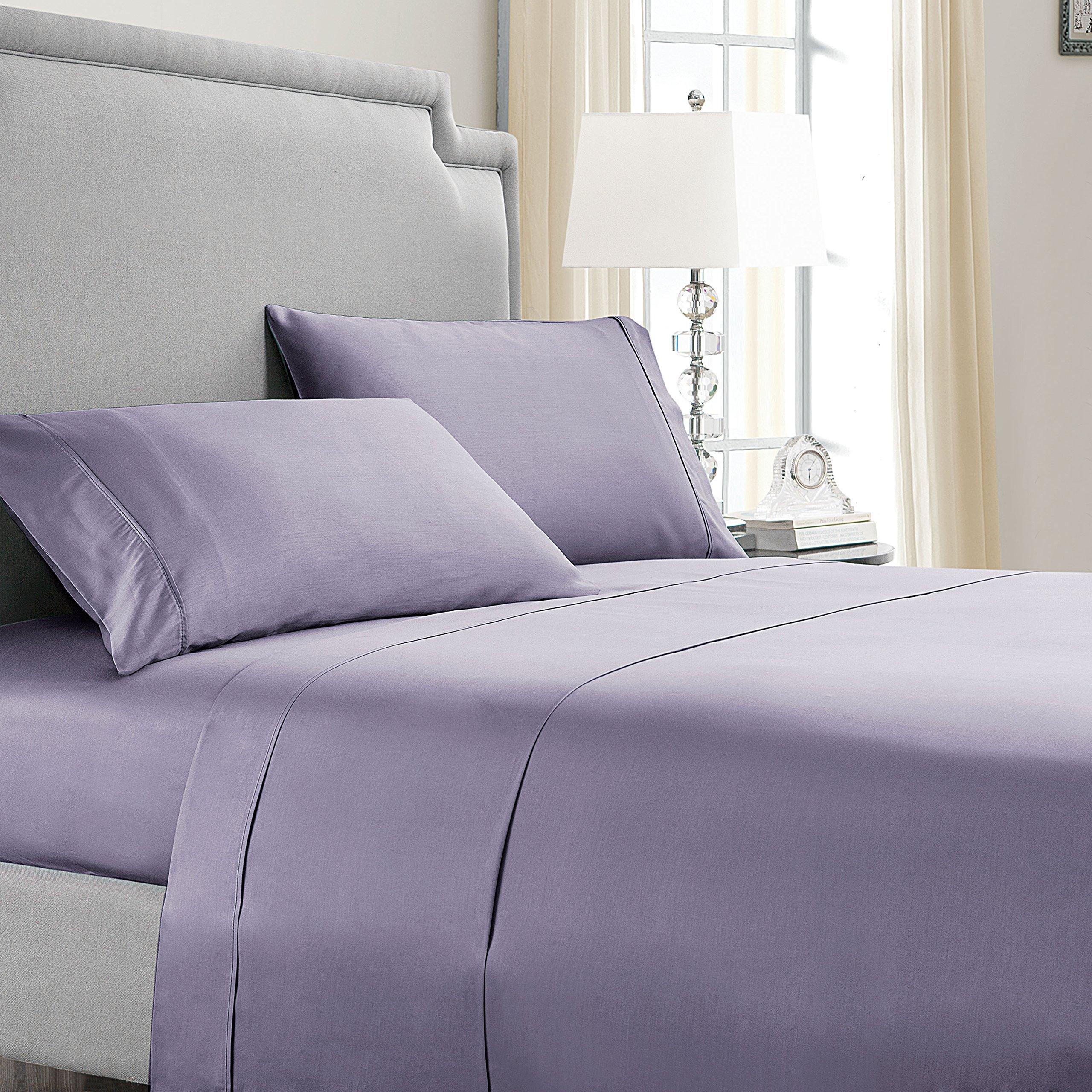 VCNY Home Vcny Sheet Set, Full, Lavender Aura
