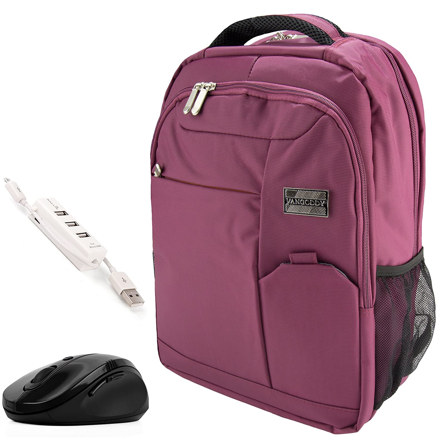 "hot sale VanGoddy Orchid Purple Executive Anti-Theft Laptop Backpack w/ Wireless Mouse and USB HUB for Lenovo IdeaPad / Yoga / Flex / ChromeBook / ThinkPad / Legion / 11""-15inch"