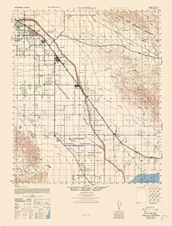 Amazon Com Topographic Map Coachella California Sheet Army 1943