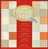 Scrapbooking Papier Vintage Motivblock (27 - Romantic Vintage) Bastelpapier 250gr/qm - 48 Motive Grösse je 30,5 cm x 30,5 cm