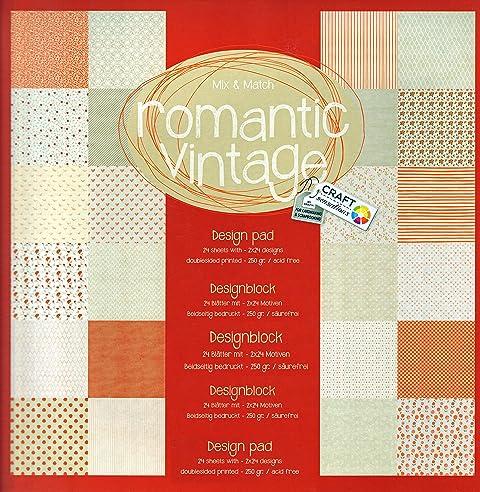 Bastelpapier Vintage scrapbooking papier vintage motivblock 27 vintage