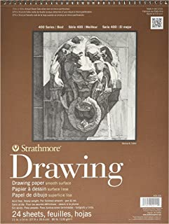 Strathmore 400-105 400 Series Drawing, Smooth Surface, 11'x14' Wire Bound, 24 Sheets