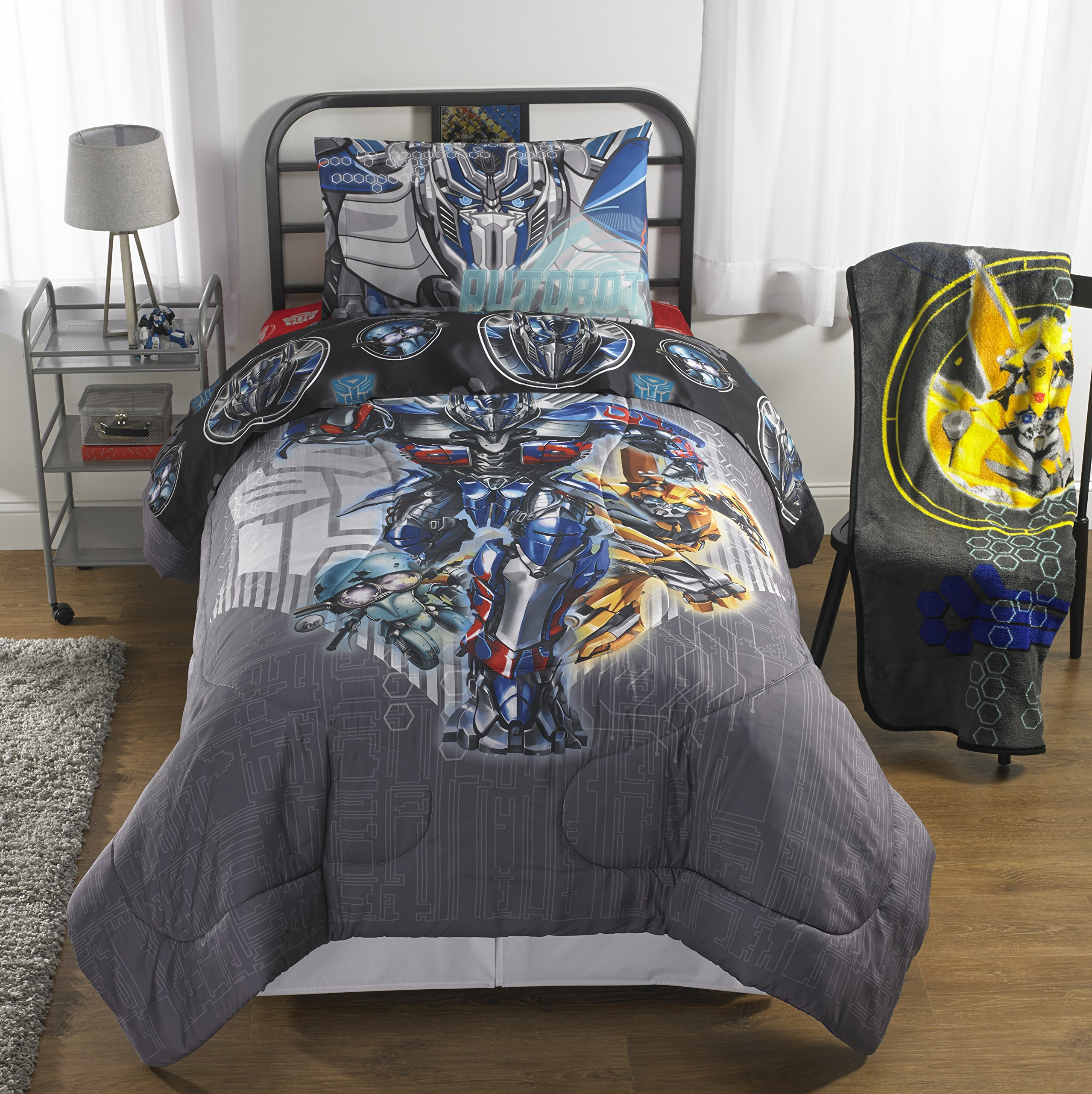 Transformers 5 (2017) 6-Piece Full Bedding Collection with Comforter, Sheet Set and Activity Book (The Last Knight)