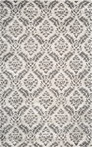 Rizzy Home Volare Collection Wool Area Rug, 8' Round, Natural/Brown Demask