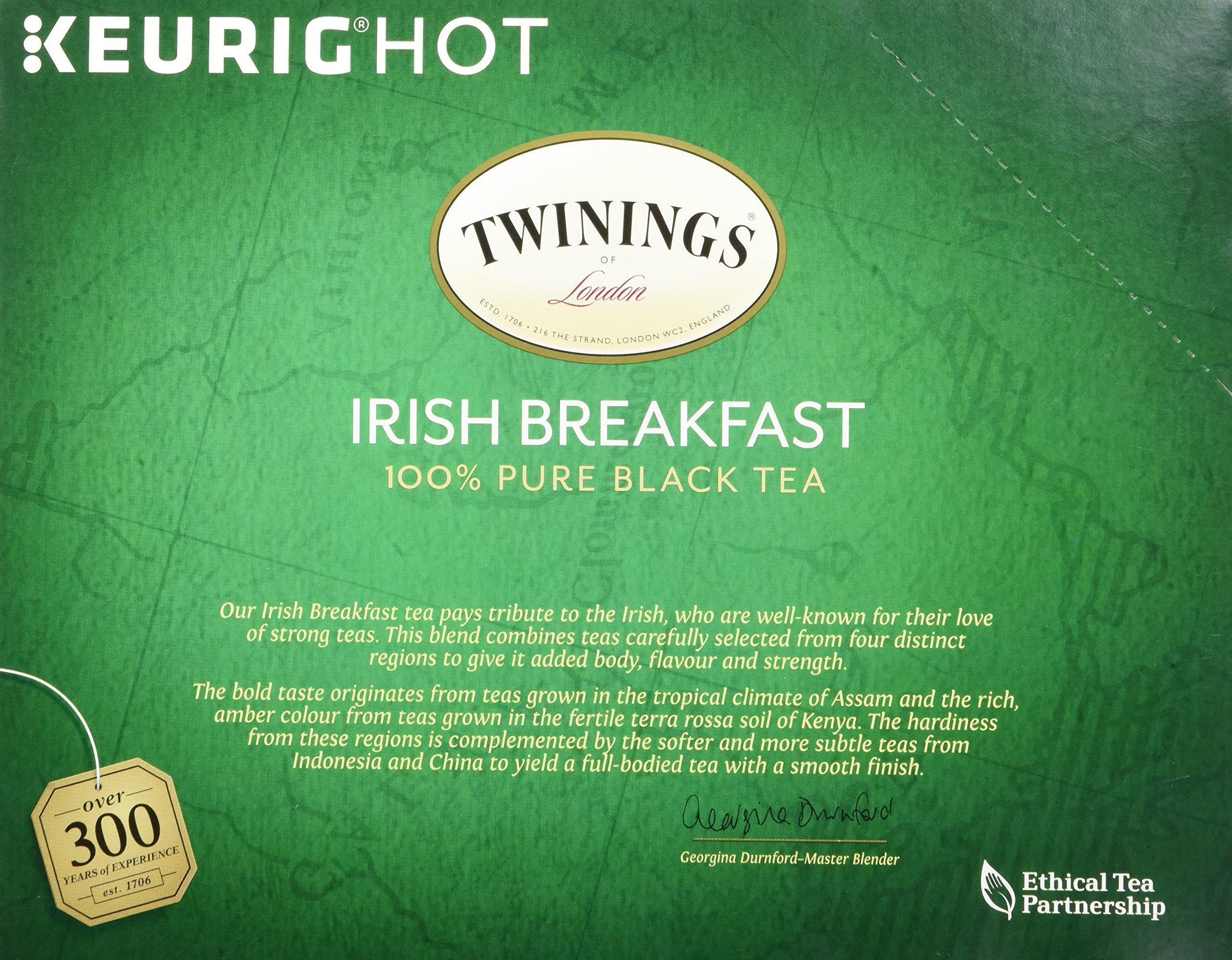 Twinings of London Irish Breakfast Tea K-Cups for Keurig, 24 Count (Pack of 4)