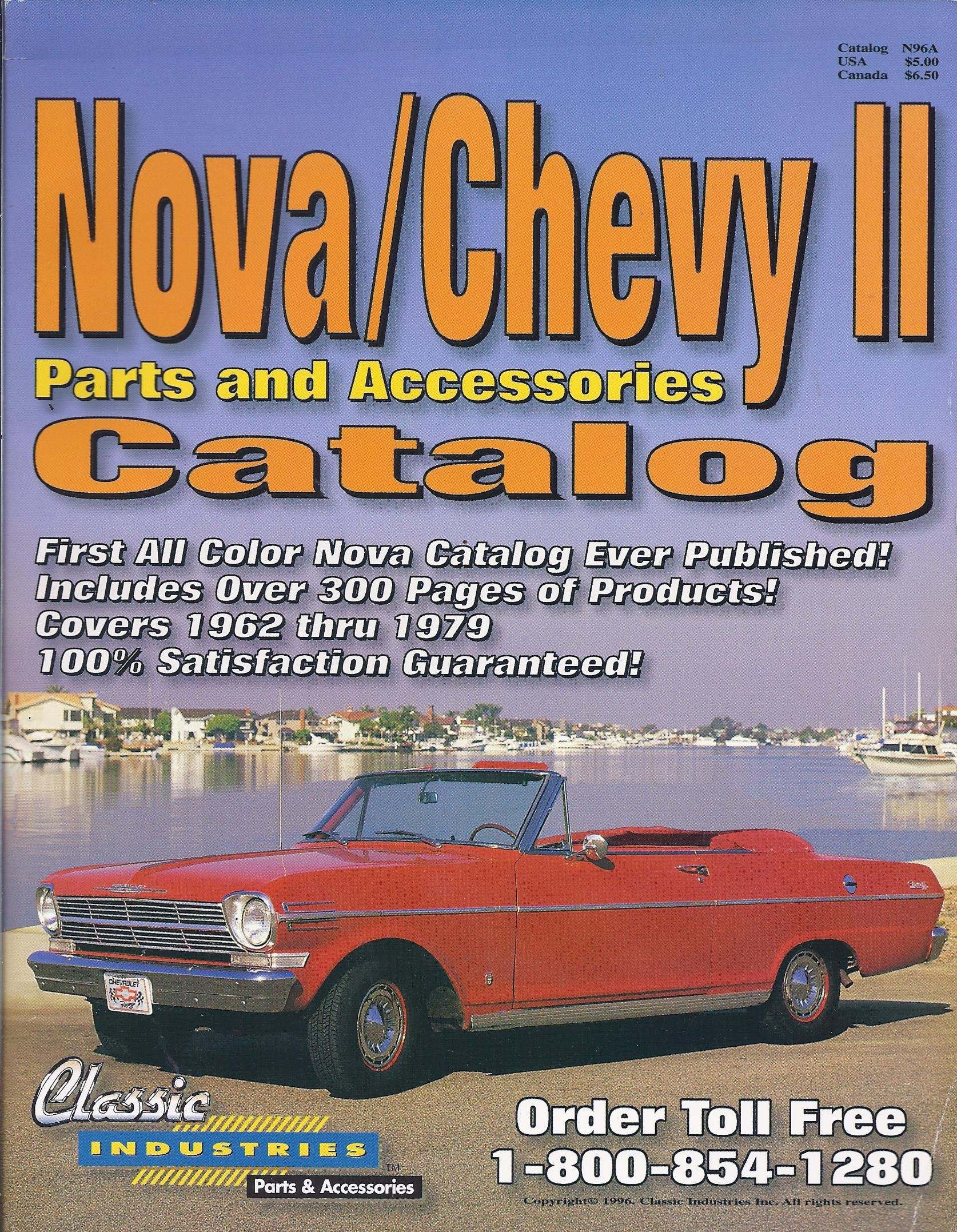 Nova / Chevy II Parts and Accessories Catalog (Covers 1962