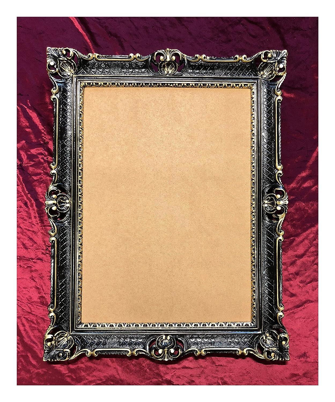 Barock Antik Rokoko  Bilderrahmen Rahmen Fotogalerie für zwei Fotos oval silber