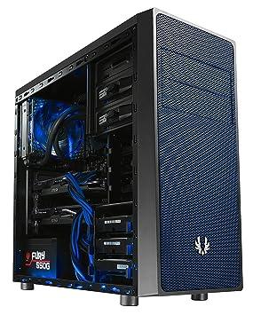 BitFenix BFC-NEO-100-KKXSB-RP Carcasa de Ordenador Midi-Tower Negro, Azul - Caja de Ordenador (Midi-Tower, PC, De plástico, Acero, Negro, Azul, ...